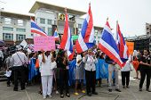 Songkhla, Thailand- November  05: Students And Citizens March. Disagreed With The Government's Amnes