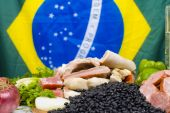 pic of brazilian food  - Brazilian raw fresh Ingredients for Feijoada  - JPG