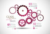 Infographics and High Tech background for business purposes like presentation covers or technology r