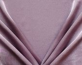 Lilac Draped Silk Fabric