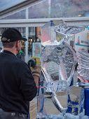 Ice Sculpting At Sculpture Festival
