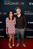 NEW YORK- OCT 24: Director Max Joseph (R) and Priscilla Joseph attend the premiere of Canon's 'Proje
