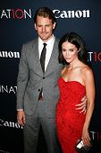 NEW YORK- OCT 24: Actors Josh Pence and Abigail Spencer attend the premiere of Canon's 'Project Imag