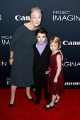 NEW YORK- OCT 24: (L-R) Actors Kathleen Chalfant, Cameron Colley and Remy Bond attend Canon's 'Proje