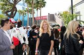 LOS ANGELES - APR 12:  Malin Akerman at the Long Beach Grand Prix Pro/Celeb Race Day at the Long Bea