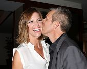 LOS ANGELES - APR 11:  Tricia Helfer, Jonathan Marshall at the Long Beach Grand Prix Foundation Gala