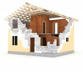 Architecture model house showing building structure
