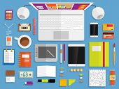 Set of Flat Design Icons. Mobile Phones, Tablet PC, Marketing Technologies, Mobile Apps, Email, Vide
