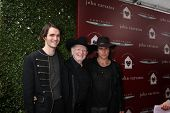LOS ANGELES - APR 13:  WIllie Nelson, with sons Micah and Lukas Nelson at the John Varvatos 11th Ann