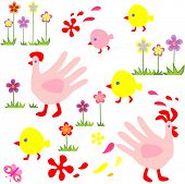 Funny easter wallpaper. Raster copy