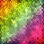 Multicolored Fairy Bokeh Abstract Background.