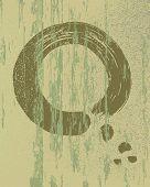 Zen Circle Vintage Wood Texture Background