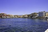 Chania Harbor Scenic View