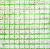 Checkered Green And White Fragment Of Cloth Texture