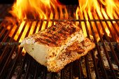 pic of flames  - Grilled Pork Striploin and BBQ Flames - JPG