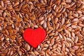 picture of flaxseeds  - diet healthcare concept - JPG