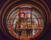 Saint Juan De Cetinas Saint Pedro De Duenas Stained Glass Basilica Cathedral Andalusia Granada Spain