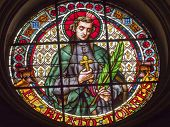 Saint Torres Stained Glass Basilica Cathedral Andalusia Granada Spain