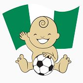 Baby Soccer Boy with Nigeria Flag