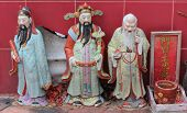 Chinese Holy Mans At Sam Seng Temple