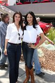 LOS ANGELES - APR 12:  Danielle Vasinova, Saye Yabandeh at the Long Beach Grand Prix Pro/Celeb Race