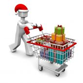 Celebration Christmas Or Buying Gift Shopping Concept