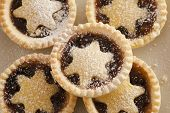 Background Texture Of Christmas Mince Pies