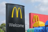 Mcdonalds logo sign