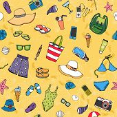 Beach seamless background pattern