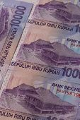 Indonesia Rupiah On A Table