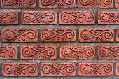 Patterned brick walls and varnish