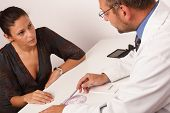 image of gynecologist  - At the doctor - JPG