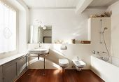 comfortable bathroom, interior of a nice loft