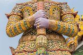 Giant Keeper In Bangkok Grand Palace, Wat Phra Kaeo Thailand