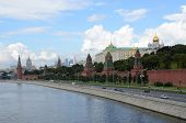 Summer View Of The Kremlin And The Kremlin Embankment