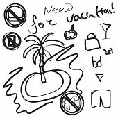 Vacation hand-drawn infographic