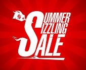 Summer sizzling sale design template.