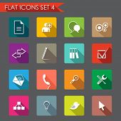 Web and office flat icons