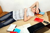 Teenager Sleeps After Learning