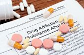 Drug Addiction Information With Scattered Pills