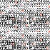 Geometric pattern with small hand drawn squares
