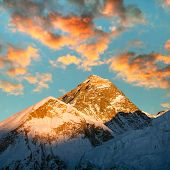 Evening View Of Everest From Kala Patthar - Trek To Everest Base Camp - Nepal