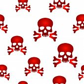 Red skull background