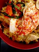 The Fried Rice With Gmichi And Pork, Korean Food
