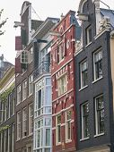 Amsterdam Canal Houses In Different Styles