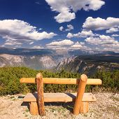 Lookout With Bench In The Durmitor National Park