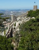 Old wall of the Castle of the Moors in Sintra, Portugal.