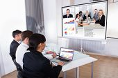 Businesspeople In Video Conference