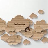 Vector Cardboard Clouds