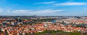 Panorama view of Prague from Prague Castle. Prague, Czech Republic
